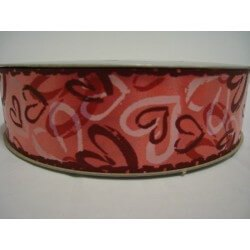 CINTA CORAZON LOVE ROSA (34 mm x 100 m)