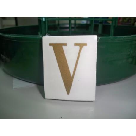 LETRA ( V ) X 25 UND