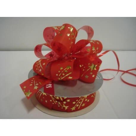 Imagenes Lazos De Navidad.Lazo Automatico Navidad Rojo Oro 35 Lazos Cruzflor S L